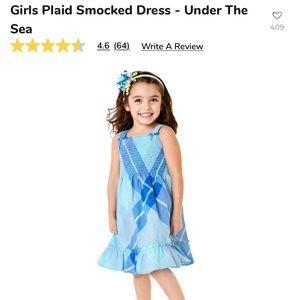 Girls Gymboree plaid smocked dress 👗 NWT